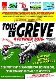 affiche mobilisation  04 FEVRIER 2016